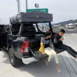 2019GW_ 陸路で鹿児島ハイラックス ルーフトップテントの旅_day2